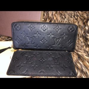 Louis Vuitton Clemence Empreinte Wallet